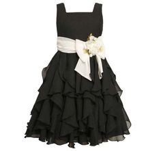 Tween Girls Dresses 7 16 | Bonnie Jean TWEEN GIRLS 7-16 BLACK WHITE ... | Church clothes for Emma
