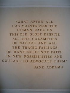 Jane Addams pioneer of social work