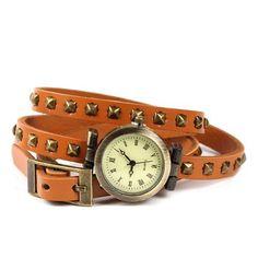 Reloj Pulsera Stud de Esencia Femenina, marrón