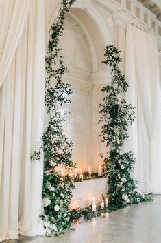 don't feel like you have to waste a ceremony install, get some double use out of it! Indoor Wedding Arches, Indoor Wedding Ceremonies, Indoor Ceremony, Wedding Ceremony Backdrop, Ceremony Arch, Ceremony Decorations, Wedding Backdrops, Wedding Styles, Wedding Photos