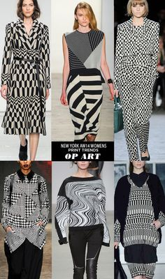 pattern people AW14 Womens Print Trends NY OP ART Runway | AW14 Womens New York Print Stories