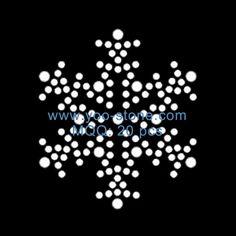 Newest Small Snowflake Crystal Rhinestone Iron Ons, Hotfix Motif Patches