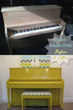 How to Paint a Piano. My old spinnet is sitting in my mother's house unused... I hate the very 1970's finish on it; this might save my old Yamaha!