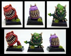Airbrush, Bone, Goblins, Orks, Scales, Squigs, Teeth, Warhammer Fantasy