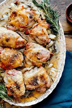 Roasted Chicken Thighs with Lemon Thyme Rosemary