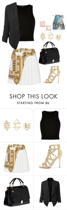 """Untitled #490"" by samson-90 on Polyvore featuring Charlotte Russe, River Island, Versace, Sergio Rossi, Miu Miu, LE3NO and Kate Spade"