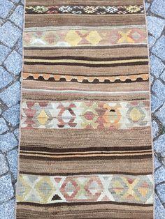 Short runner rug Handmade runner rug Runner kilim rug | Etsy Black Runner Rug, Black Runners, Kilim Runner, Stair Well, Vintage Wool, True Colors, Small Rugs, Kilim Rugs, Handmade Rugs