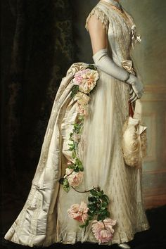 warpaintpeggy:  INCREDIBLE DRESSES IN ART (53/∞)Portrait of an Elegant Lady by Francois Bunery