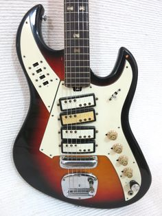 Vintage 1960s Teisco Norma 4 Pick Up RARE Shape Design