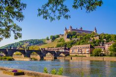 Würzburg with Fortress Marienberg and old Main Bridge by Gerald H. on 500px