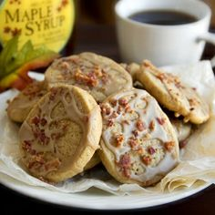 """Pancakes 'n' Bacon Cookies""—maple & brown sugar cookies with maple glaze and crispy bacon."