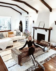 black and white living room with surfboard Black And White Living Room, Black And White Interior, Black Sofa Living Room Decor, Surfboard Decor, White Sectional, Living Room Decor Inspiration, Condo Living, Living Rooms, Living Room Designs