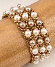 pearl and seed bead bracelet. Craft ideas 5277 - LC.Pandahall.com