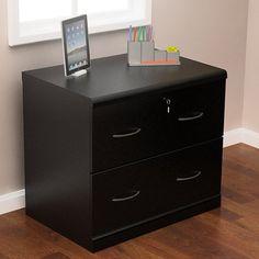 Charlton Home Otterbein 2 Drawer File Cabinet Finish: Black Home Office Cabinets, Home Office Furniture, Filing Cabinets, Door Storage, Storage Spaces, 2 Drawer File Cabinet, Lateral File, Nebraska Furniture Mart, Line Design