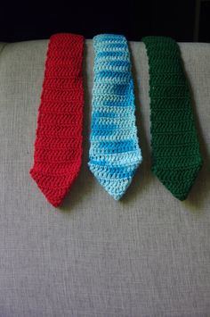 A personal favorite from my Etsy shop https://www.etsy.com/listing/398780311/mens-crocheted-tie-a-classic-with-a