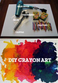 DIY Diana: Create Your Own Masterpiece: DIY Crayon Art