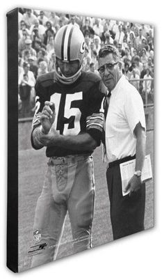 Photo File Bart Starr & Vince Lombardi Green Bay Packers Photo Canvas Art NFL