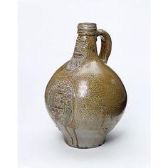 Salt-glazed stoneware, with moulded applied decoration, c. 1600-1650, Germany