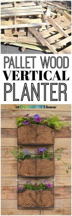 DIY Pallet wood vertical wall planter