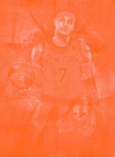 NBA Player Monochromatic Poster Art (Carmelo Anthony)