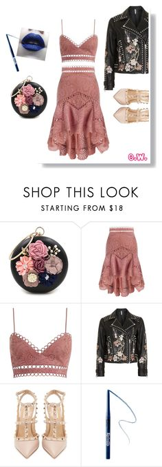 """""""No.1   Studded"""" by ohlivieya ❤ liked on Polyvore featuring WithChic, Zimmermann, Topshop, Valentino and Kat Von D"""