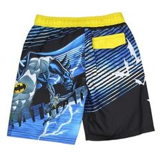 Batman Swim Trunks From DC Comics DC Comics Batman Swim Trunks For Fun Summertime Play And Swimming      Available Sizes 4-5-6-7     Made From 100% Polyester     Label DC Comics Batman     Licensed DC Comics Batman apparel     Warehouse Location The Woodlands Texas     Shipping Charges Free Shipping     Ships In 1 Week
