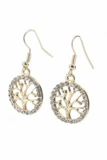 Tree of Life Earrings in Gold & Silver