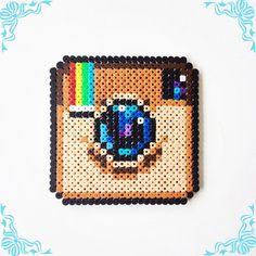 Instagram logo perler beads by perler_art
