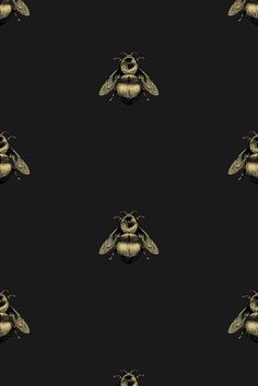 Love this wallpaper and could be fun for a powder room . Fun fact: People call me B (sometimes even Bee) so we love bees in this fam. Timorous Beasties Wallcoverings - Napoleon Bee Non Woven wallpaper Watch Wallpaper, Screen Wallpaper, Wallpaper Backgrounds, Iphone Wallpaper, French Wallpaper, Dark Wallpaper, Napoleon, Timorous Beasties, Whatsapp Wallpaper