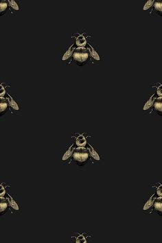Timorous Beasties Wallcoverings - Napoleon Bee wallpaper