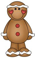 Gingerbread man hunt clues game printables