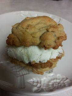 icecream sandwich chocolate chip cookies.