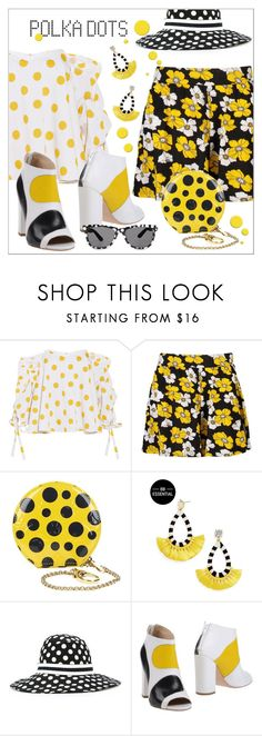 """""""Polka Dots Dots Dots"""" by interesting-times ❤ liked on Polyvore featuring Caroline Constas, Boohoo, Louis Vuitton, Dolce&Gabbana, Marc Ellis and PolkaDots"""