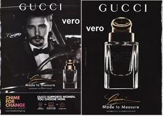 GUCCI mag print ad open + sniff test strip fragrance cologne JAMES FRANCO actor