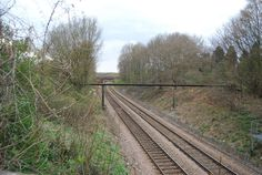 The North Downs Line at  Shalford