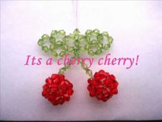 Tutorial: Sparkly Beaded Cherry Phone Charm - YouTube