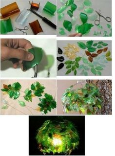 recycling plastic bottles: creative and clever with plastic bottles - crafts ideas - crafts for kids on Twitpic Plastic Bottle House, Reuse Plastic Bottles, Plastic Bottle Flowers, Plastic Bottle Crafts, Recycled Bottles, Recycled Crafts, Plastic Art, Diy Fleur, Recycling