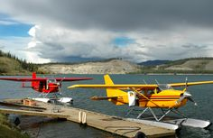 Yukon, Canada - Float planes near Schwatka Lake #floatplane #seaplane