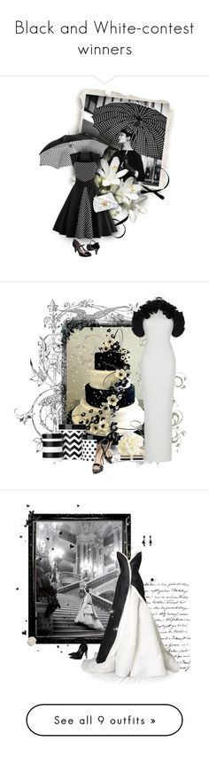 """Black and White-contest winners"" by lmm2nd ❤ liked on Polyvore featuring Aspinal of London, Merona, Dolce&Gabbana, vintage, Brian Atwood, Rasario, Effy Jewelry, blackandwhite, wedding and Oscar de la Renta"