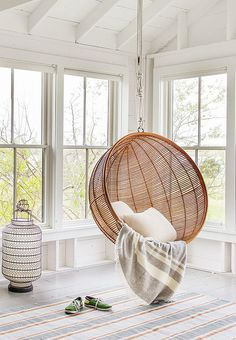 WHO DOESN'T LOVE A SWING especially one {like these ones below} that you can swing on inside! Perfect home inspiration...