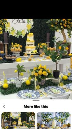Lemon Centerpieces, Lemon Party, Yellow Wedding, Decoration Table, Baby Shower Themes, Event Decor, Party Themes, Party Ideas, Catering