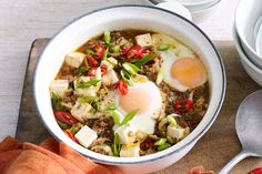 Healthy Minced Beef Recipes, Tofu Recipes, Paprika Sauce, Ginger Beef, Tofu Stir Fry, Chili Sauce, Korean Beef, Lunches And Dinners, Easy Cooking