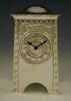 Arts & Crafts Silver Clock