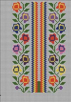 Cross Stitch Geometric, Cross Stitch Borders, Cross Stitch Rose, Cross Stitch Designs, Cross Stitching, Cross Stitch Embroidery, Cross Stitch Patterns, Hand Embroidery Design Patterns, Embroidery Flowers Pattern