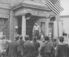 """Jimmie starring in """"Verboten!"""" in front of what soon would be transformed into the Mayberry Courthouse. Famous Movie Scenes, James Best, Painting, Friends, Amigos, Painting Art, Paintings, Painted Canvas, Boyfriends"""