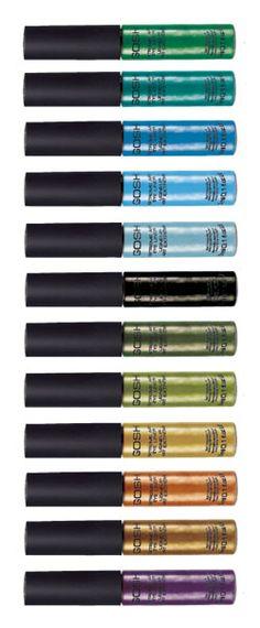 Gosh Extreme art eye liner - I have it in Aqua 11 ! it's gorgeous on top of a black eyeliner to pop it ! Makeup Life Hacks, Beauty Hacks, Beauty Tips, Black Eyeliner, Gel Eyeliner, Beauty Makeup, Face Makeup, Makeup Stuff, Gosh Cosmetics