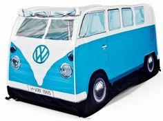 Vw Bus Zelt Fuer Kinder Bulli Blau Volkswagen