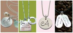 Hip Mom Jewelry, a little expensive but that's the price for personalized jewelry right :) Cute stuff!