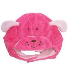 Bear Patch Pink Fur Cap