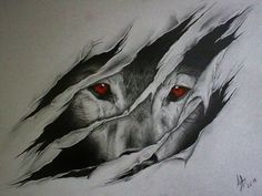 cool wolf art | wolf ripping outta skin drawings - Google Search More